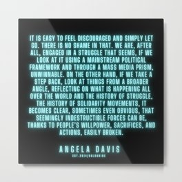 18      |  Angela Davis | Angela Davis Quotes |200814 Metal Print
