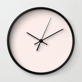 Pink Linen Wall Clock