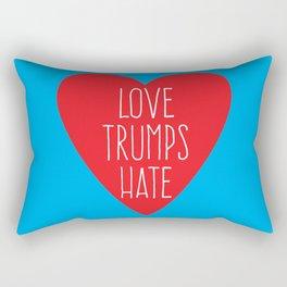 Love Trumps Hate Rectangular Pillow