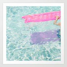 Pool Float Art Print