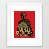 red dead redemption Framed Art Prints featuring Red Fett Redemption by MeleeNinja
