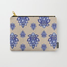 Jewelbox: Sapphire Brooch on Sand Carry-All Pouch