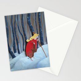 Waiting in the Woods Stationery Cards