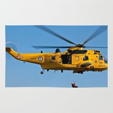 RAF Sea King Search & Rescue Helicopter 2 Rug