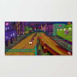 Tokyo Night Train Canvas Print