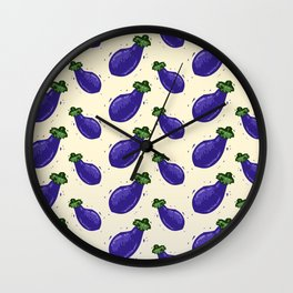 Falling Brinjals Wall Clock