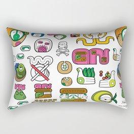 New Maya Language Rectangular Pillow