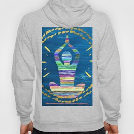 Inner Peace - A Modern Abstract - A person Meditating Hoody