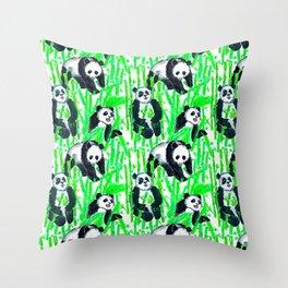 Painted Pandas Throw Pillow