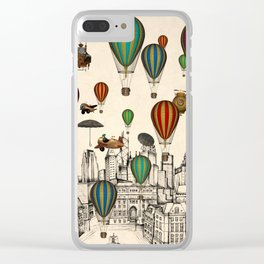 Vintage Old City Clear iPhone Case