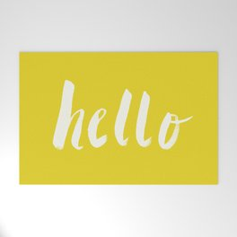 Hello x Sunshine Script Welcome Mat