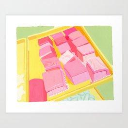 Pink Cakes Art Print