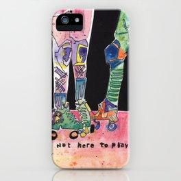 Roller Derby Girls iPhone Case