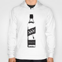 whiskey Hoodies featuring Whiskey Diver by Luke Brogoitti