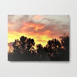 Sunset In The Neighborhood Metal Print