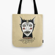 Cat Head with Worms Tote Bag