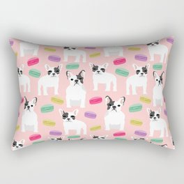 French Bulldog macaron paris cute puppy frenchie gifts for dog breed owner pet friendly custom dog Rectangular Pillow