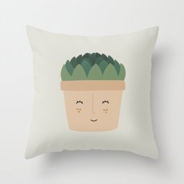 Cheery Succulent Throw Pillow