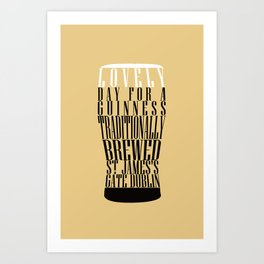 Typographical Guinness Art Print