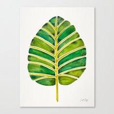 Elephant Ear Alocasia – Green Palette Canvas Print
