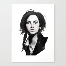 Fashion Illustration - Leather Jacket Canvas Print
