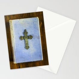 Blue Crucifix Stationery Cards