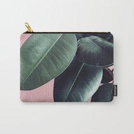 Ficus Elastica #14 #CoralBlush #decor #art #society6 Carry-All Pouch