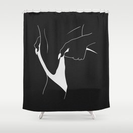 """tighten"" (negative) Shower Curtain"