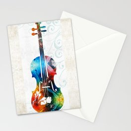 Colorful Violin Art by Sharon Cummings Stationery Cards