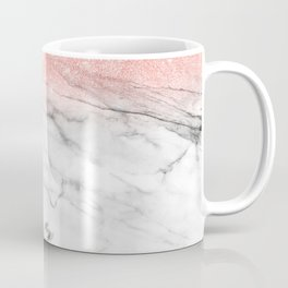 Trend Modern faux rosegold pink glitter ombre marble Coffee Mug