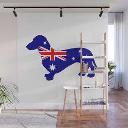 Australian Flag - Dachshund Wall Mural