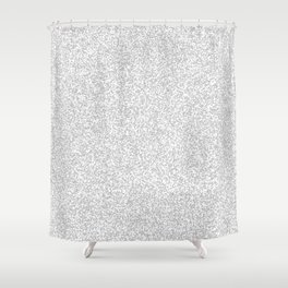 Spacey Melange - White and Silver Gray Shower Curtain
