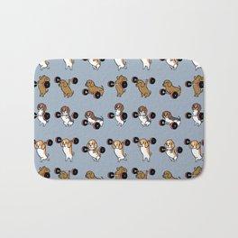 Olympic Lifting Beagles Bath Mat