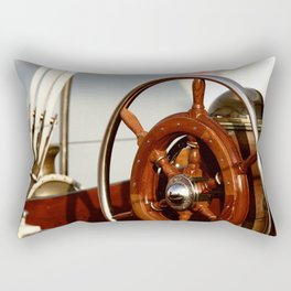 Staying on course at sea Rectangular Pillow
