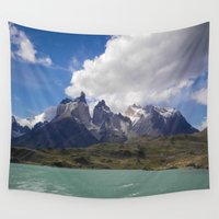 chile Wall Tapestries featuring Torres del Paine, Chile by Lisa Femia