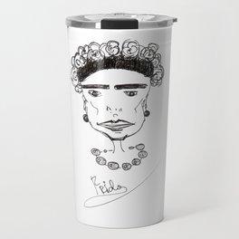 Strong Frida Kahlo Travel Mug