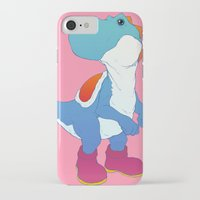 yoshi iPhone & iPod Cases featuring Yoshi Blue by bloozen
