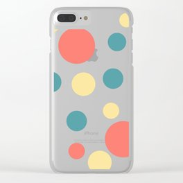 Coral Pop Clear iPhone Case