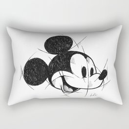 MickeyMouse Handmade Drawing, Made in pencil and ink, Tattoo Sketch, Tattoo Flash Rectangular Pillow