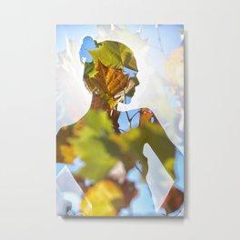 A Woman Among the Leaves Metal Print