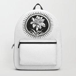 White flower Flor blanca Backpack