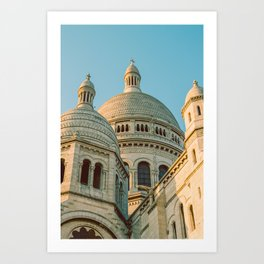 The Basilica of the Sacred Heart in Montmartre, Paris, France. Art Print