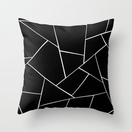 Black White Geometric Glam #2 #geo #decor #art #society6 Throw Pillow