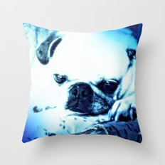 PUG LOVE ~ A Lovely Little Old Lady Throw Pillow