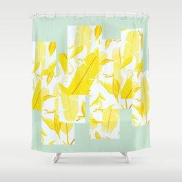 Yellowish Shower Curtain