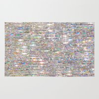 holographic Area & Throw Rugs featuring To Love Beauty Is To See Light (Crystal Prism Abstract) by soaring anchor designs