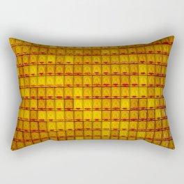 Orange Buddha glass plate Rectangular Pillow