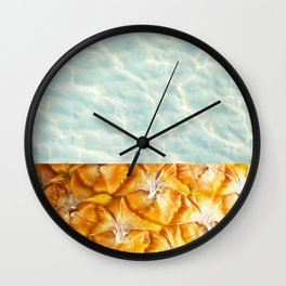 Pool and pineapple Wall Clock