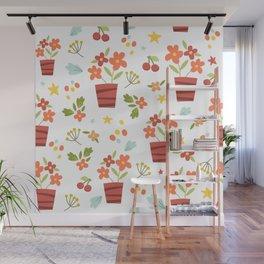 Kids Flower Pots Wall Mural