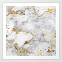 Italian gold marble Kunstdrucke